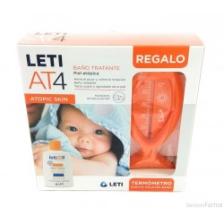 PACK LETI AT-4 BAÑO TRATANTE 200 ML + TERMOMETRO
