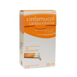 CINFAMUCOL CARBOCISTEINA 750 MG 12 SOBRES SOLUCION ORAL 15 ML