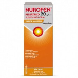 NUROFEN PEDIATRICO 20 MG/ML SUSPENSION ORAL 200 ML NARANJA